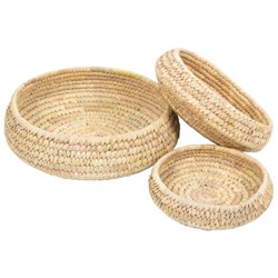 Trade Aid Round Natural Fibre Bowls, Set of 3