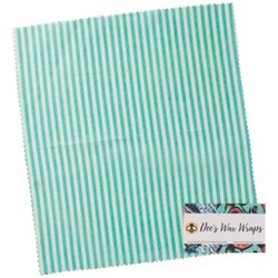 Dee's Wax Wrap Teal Stripe Large