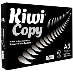 Kiwi Copy A3 80gsm White Paper, Pack of 500