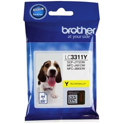 Brother LC3311-Y Yellow Ink Cartridge