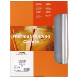 GBC Ibico Thermal Binding Covers 6mm White, Box of 100