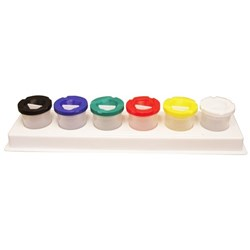 DAS Non Spill Paint Pots With Tray, Set of 6