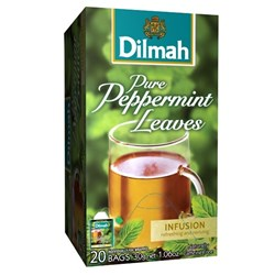 Dilmah Pure Peppermint Leaves Enveloped Tea Bags, Box of 20