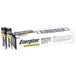 Energizer Industrial AAA Alkaline Batteries, Box of 24