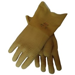 Nitty Gritty Natural Rubber Coated Gloves 350mm Gauntlet Large