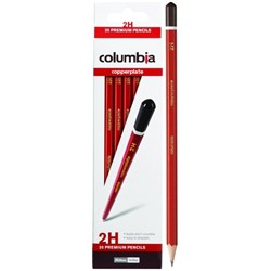 Columbia Copperplate 2H Pencils, Pack of 20