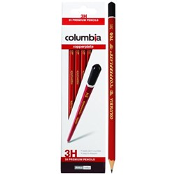 Columbia Copperplate 3H Pencils, Pack of 20