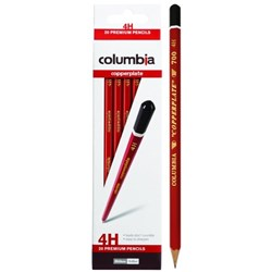 Columbia Copperplate 4H Pencils, Pack of 20