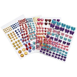 Colorations Peel & Stick Gems Assorted, Pack of 442