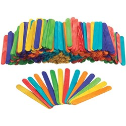 Colorations Large Pop Sticks 153x19mm Assorted Colours, Pack of 500