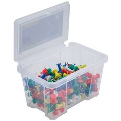 Celco Stationery Tub Coloured Push Pins Tub of 200