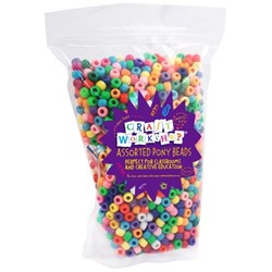Colorations Classic Pony Beads, Pack of 1800