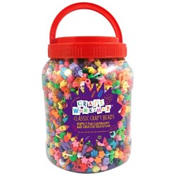 Colorations Craft Beads Value Bucket, Pack of 6000