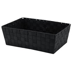 Poly Weave Hamper Storage Tray 380x260x130mm Black