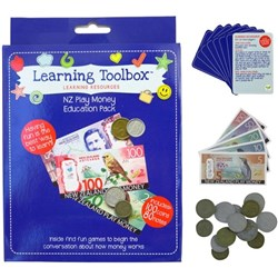 NZ Play Money 100 Coins & 80 Notes, Pack of 180