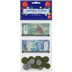 NZ Play Money 20 Coins & 40 Notes, Pack of 60