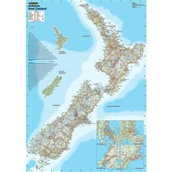 New Zealand Laminated Wall Map 610x880mm