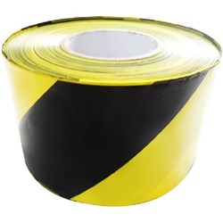 Barricade Non Adhesive Safety Tape 100mm x 300m Yellow/Black