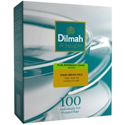 Dilmah Pure Peppermint Leaves Enveloped Tea Bags, Box of 100