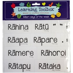 Learning Toolbox Magnets Maori Days of the Week, Set of 14