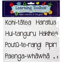 Learning Toolbox Magnets Maori Months of the Year, Set of 21