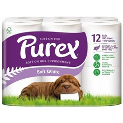 Purex Toilet Tissue 2 Ply, Pack of 12