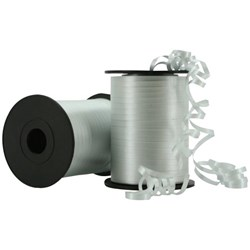 Crimped Curling Ribbon 5mmx500m Silver