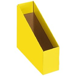 Marbig Magazine Box File, Small, Yellow, Pack of 5
