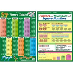 Times Table Factors & Multiples Wall Chart