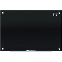 Quartet Infinity Magnetic Glass Board Black 450x600mm