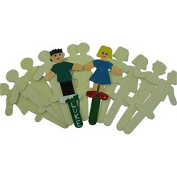 People Pop Sticks Large, Pack of 12