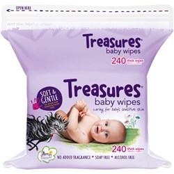 Treasures Baby Wipes Refill, Pack of 240 Sheets