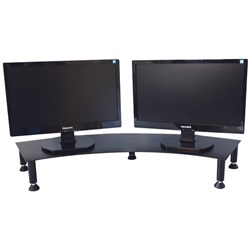 Fluteline Dual Metal Monitor Stand Black
