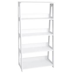Elementary Bookcase 5 Shelves 1430mm White
