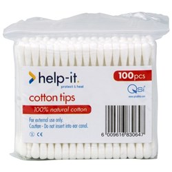 Help-It Cotton Tips, Pack of 100