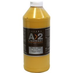 A2 Art Student Acrylic Paint 1 Litre Yellow Oxide