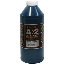 A2 Art Student Acrylic Paint 1 Litre Pthalo Green