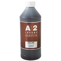 A2 Art Student Acrylic Paint 1 Litre Burnt Umber