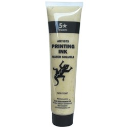 5 Star Water Based Printing Ink 115ml Clear Medium