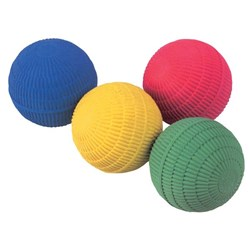 Foam Ball Soft Ribbed 60mm Assorted Colours