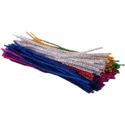 Metallic Pipecleaners 300mm Assorted Colours, Pack of 150