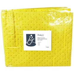 Help-It Synthetic Absorbent Pads Chemical & General Purpose, Pack of 5
