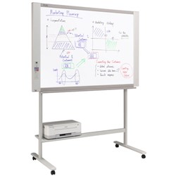 Plus N204 Electronic Whiteboard 4 Screen With Stand + Printer 1300x910mm