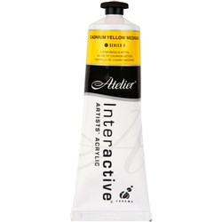 Atelier Interactive Acrylic Paint, S4, 80ml, Cadmium Yellow Medium
