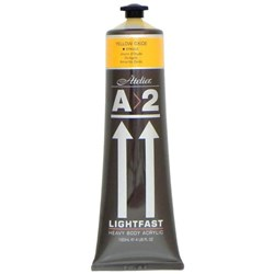 A2 Art Student Acrylic Paint 120ml Yellow Oxide