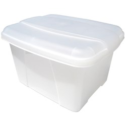 Marbig Office-In-A-Box Plastic Filing Box & Lid Clear
