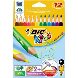 BIC Kids Evolution Triangular Colouring Pencils, Pack of 12