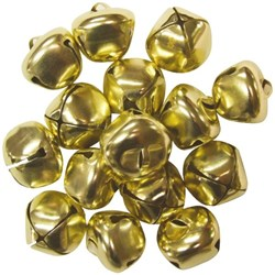 Round Bells Gold, Pack of 15