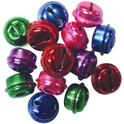 Round Bells Assorted Colours, Pack of 15