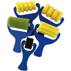 Sponge Rollers Patterned, Pack of 5